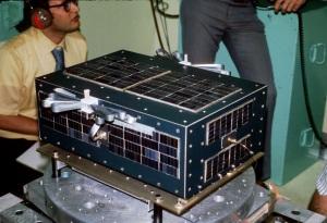 AMSAT OSCAR 6 undergoing vibration testing