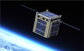 A CubeSat in Space