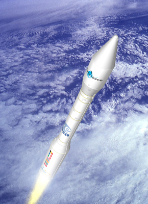Artists impression of Vega launch