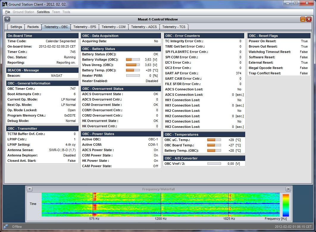 MO-72 Masat-1 Telemetry Decode Software | AMSAT-UK