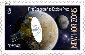 New Horizons stamp concept by Dan Durda