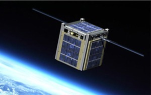 Image of a CubeSat in Space