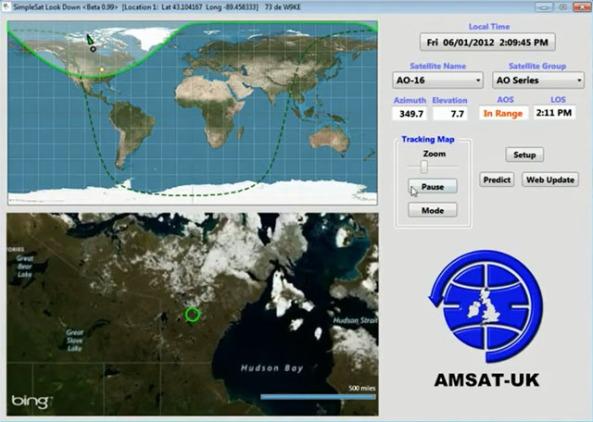 Real Time Satellite Tracking | AMSAT-UK