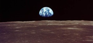 Earthrise viewed from lunar orbit - Image credit NASA