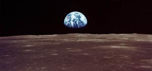 Earthrise viewed from lunar orbit - Image credit NASA