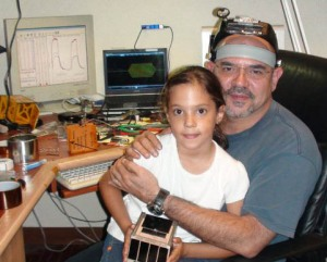 Ronnie Nader with Elisse Nader and CubeSat