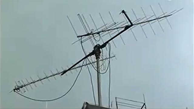 Ham radio satellite tracking antenna casually come