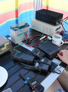 Amateur Radio Station at EMF 2012 - Image Credit Kitty Wong