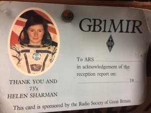 Mir Space Station GB1MIR QSL Card