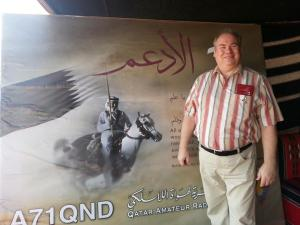 AMSAT-DL President Peter Guelzow DB2OS at the Qatar National Day Station A71QND