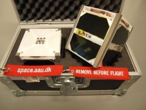 AAUSAT3 Flight Model and Engineering Model - Image credit Aalborg University