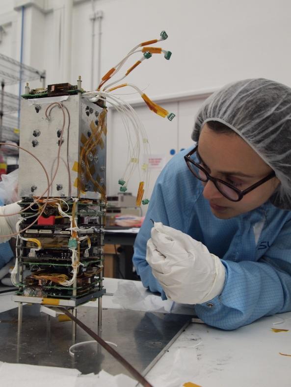 Dr Susan Jason working on STRaND-1