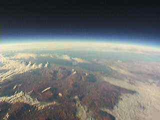 BBC Sky Balloon image received by Graeme 2I0WGM and Philip MI0VIM