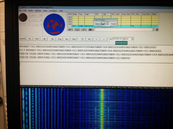 OSSI-1 CubeSat Morse Code Telemetry Data