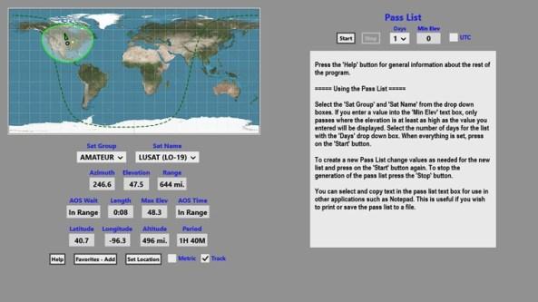 Satellite Explorer Screenshot