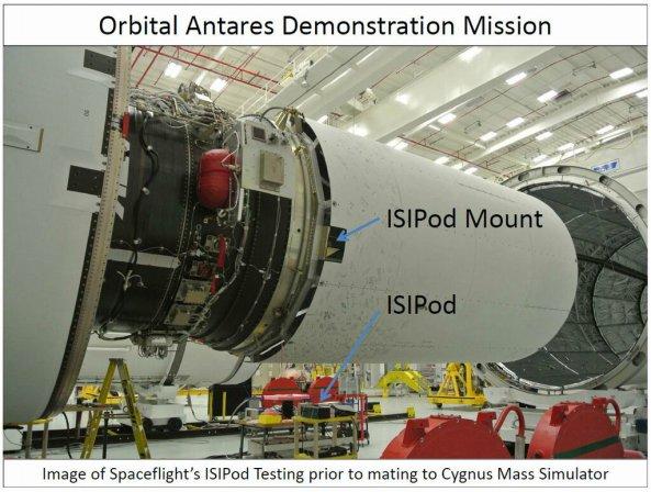 Antares-110 CubeSat Integration - Image Credit Spaceflight Inc