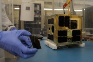 BRITE satellite at UTIAS-SFL - Image credit University of Toronto Institute for Aerospace Studies