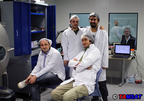TAMSAT team celebrating a successful test