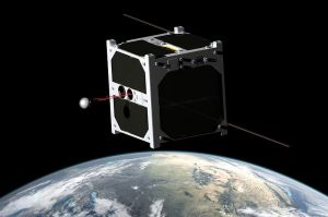 Artists impression of ESTCube-1 in space - Image credit University of Tartu