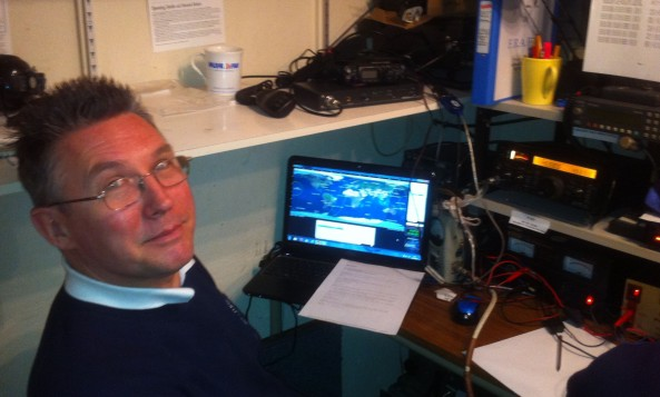 Clive G7SVI operating G100RSGB on the FO-29 satellite