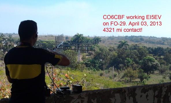 Hector CO6CBF working Joe EI5EV on FO-29  2013-04-03 1440z_6