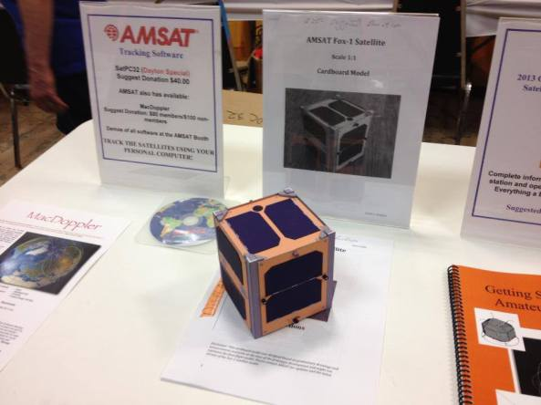Fox-1 CubeSat at the Dayton Hamvention - Image Credit ARRL