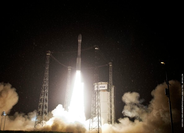 Vega VV02 lift-off from Kourou on May 7, 2013 at 02:06 UT