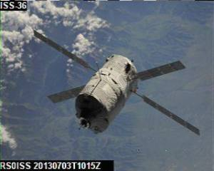 ATV-4 SSTV image received by Joshua Nelson KB1TCI at ISU GENSO ground station