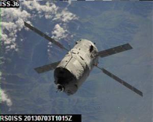 ATV-4 SSTV image received by Joshua Nelson KB1TCI at ISU GENSO ground station