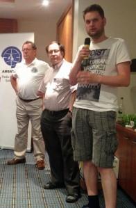 Graham Shirville G3VZV, Gerard Auvray F6FAO and Wouter Weggelaar PA3WEG