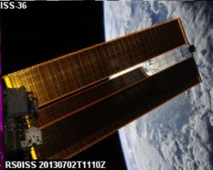 ISS Slow Scan TV received by Dmitry Pashkov UB4UAD