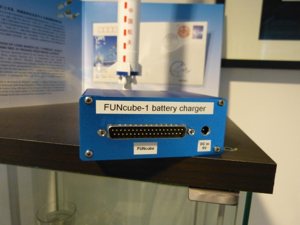 FUNcube-1 battery charger - Image credit Graham Shirville G3VZV