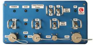 Front panel of the HamTV transmitter