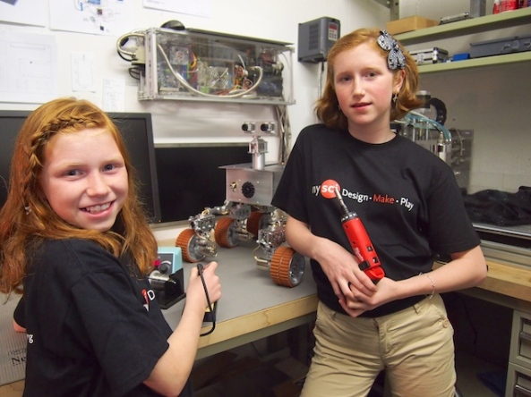 In the workshop building the Rover - Image credit Beatty Robotics