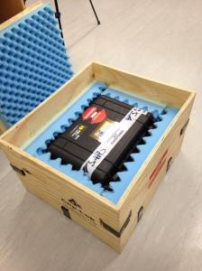 ZACUBE-1 ready to be shipped to the Netherlands and from there to Yasny