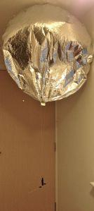 A small foil pico balloon - Image credit Leo Bodnar