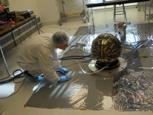 DANDE nano-satellite prior to packaging - Image credit Bruce Davis
