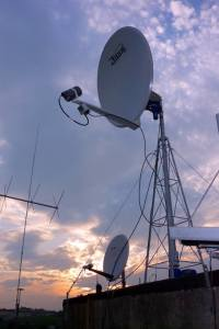 HamTV Antennas at ARISS Telebridge Station IK1SLD in Casale Monferrato, Italy