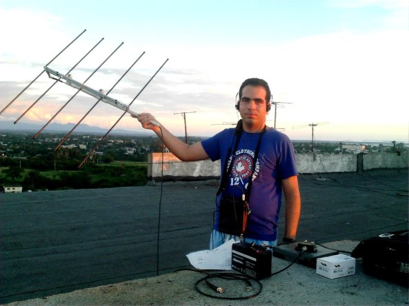 Hector CO6CBF working Peter G4DOL on FO-29