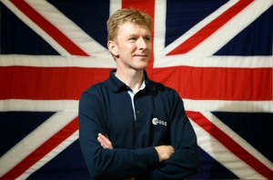 Tim Peake and Union Flag