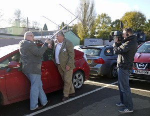 BBC film Howard Long G6LVB and Jim Heck G3WGM working FUNcube-1 (AO-73)