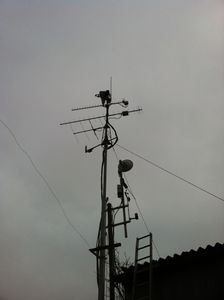 23cm_WebSDR_Antenna_up_mast