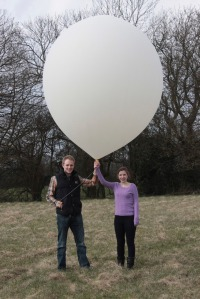 Mark and Cassie with their STRATODEAN High Altitude Balloon