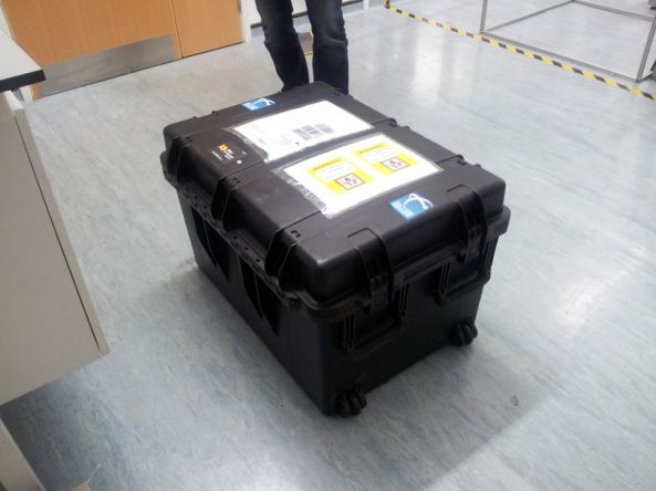 UKube-1 CubeSat on its way to Kazakhstan - Credit Clyde Space