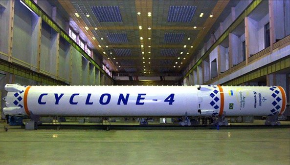 First two stages of Cyclone-4 - Image credit Alcantara Cyclone Space