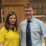 Gillian Finnerty and UK astronaut Tim Peake