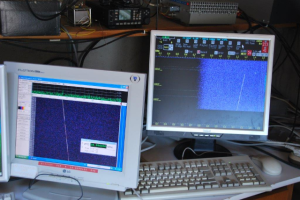 Rosetta signal received by Bertrand Pinel F5PL
