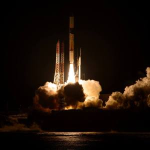 JAXA H-IIA F23 Launch February 27, 2014 at1837 UT Credit NASA/Bill Ingalls