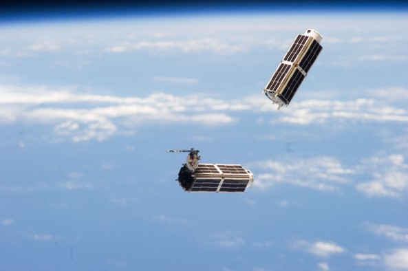 Two Planet Labs Dove CubeSats deployed from the ISS February 11, 2014