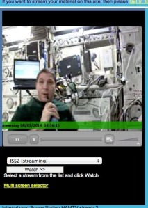 BATC Webstream of ISS HamTV by Stefan VE4NSA March 8, 2014